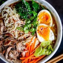 Spicy Pork Ramen Noodle Soup - Nicky's Kitchen Sanctuary