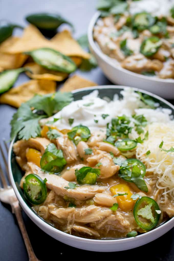 White Chilli Chicken - perfect when you feel like a change from regular chilli con carne!