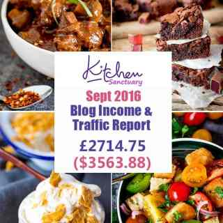 Blog Income and Traffic Report September 2016