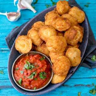 Crispy Fried Ravioli With Spicy Tomato Dip