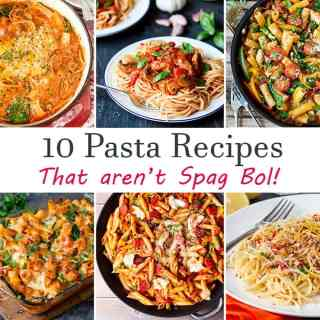 Check out my 10 pasta recipes (that aren't spag bol!) - for when you're stuck in a pasta rut!