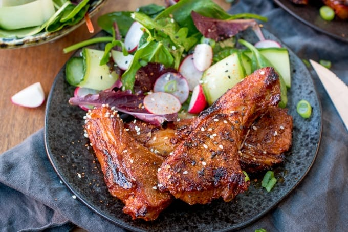 These Korean Style Lamb Cutlets are slightly spicy and totally moreish - marinate them for a couple of hours for extra flavour!