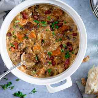 Creamy Slow Cooked Pork Casserole
