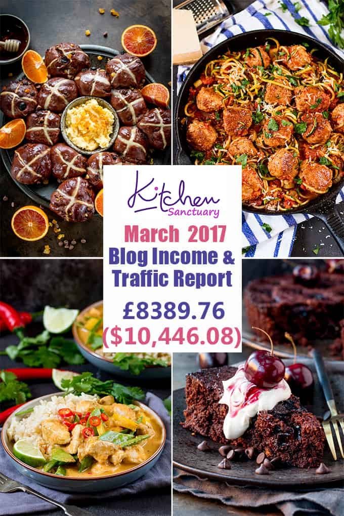 Interested in learning some of the behind-the-scenes stuff in food blogging? Check out my March 2017 income and traffic report.