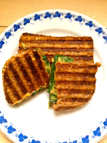 Grilled Cheese and Spinach Vegan Panini