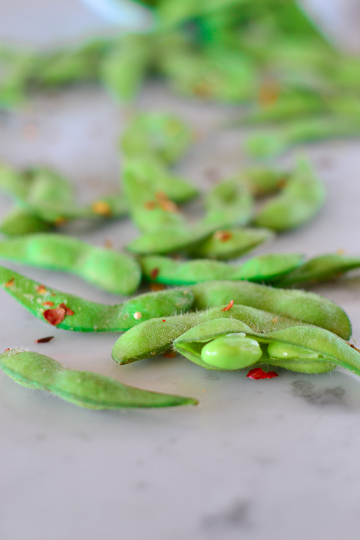 edamame single bean in bunch