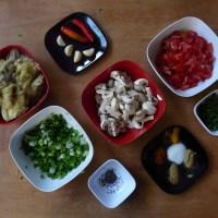 Indian Dinner - Aubergine Mushroom Curry