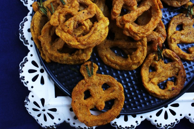 Jack O Lantern Smiley Fries Baked Vegan Easy