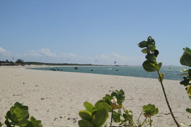 Main beach in front of village