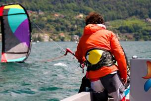 Lake Como KTS40 teaching from a boat