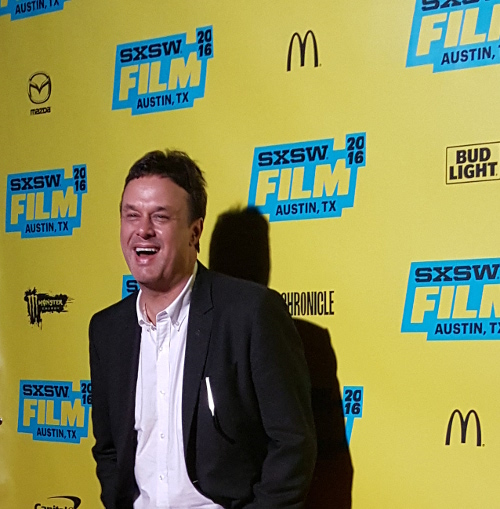 "John Scott Shepherd at the SXSW premiere of ""You Me Her"""