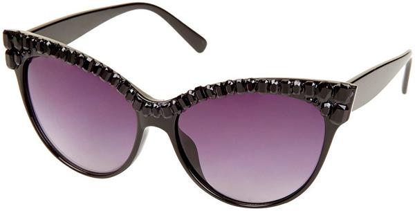 Очки в форме кошачьих глаз с драгоценными камнями - Солнцезащитные очки - тенденции модного декора 2013