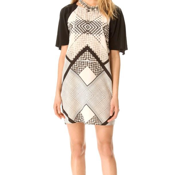 Весенняя тенденция 2013 лоскутная одежда и обувь - Платье из лоскутов от Cynthia Vincent
