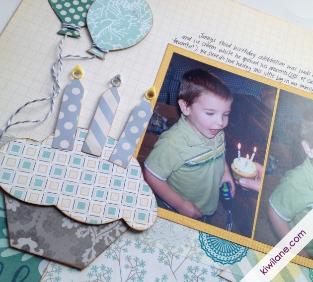 Cupcake (birthday layout)