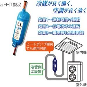 業務用空調の電力削減装置「α-HT」!!