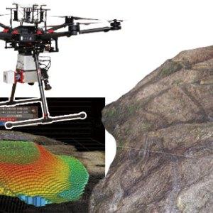 UAV搭載型レーザースキャナを用いた精密な地形測量