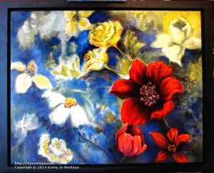 CONSIDER, floral oil painting by Kerry Jo Montoya