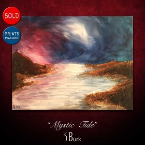 KJsArtStudio.com | Mystic Tide ~ Original Seascape Abstract Painting by KJ Burk