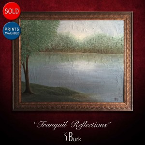 KJsArtStudio.com | Tranquil Reflections ~ Original Textured Mixed Medium Landscape Painting by KJ Burk