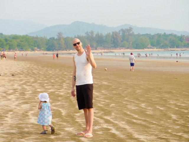 Vi testar stranden