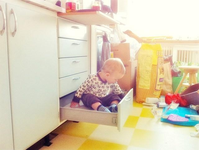 Smilla har hittat sin nya plats i köket