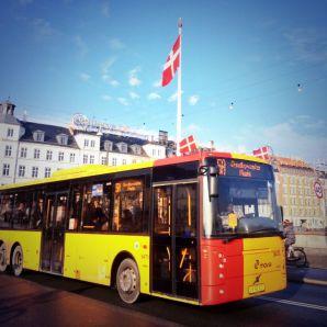 vlag op bus