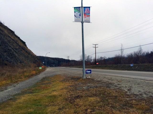 Dawson City election signs