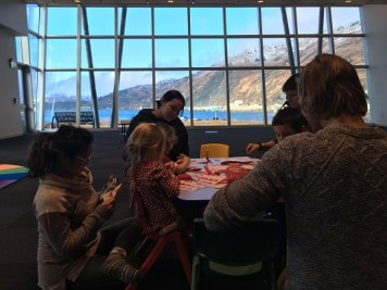 Students and teachers in classroom in the Afognak building on Near Island. Kayla Desroches/KMXT
