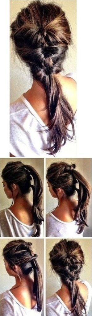 PIn Ups: Easy Hairstyle| knittedbliss.com