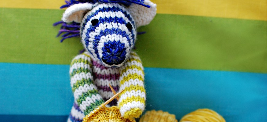 Finished Knit: Zebra Toy - Knitted Bliss
