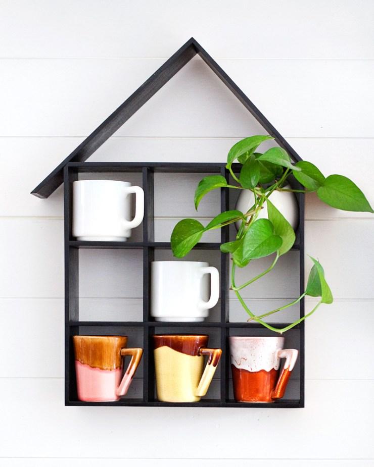 Pin Ups and Link Love: DIY Mug Shelf   knittedbliss.com
