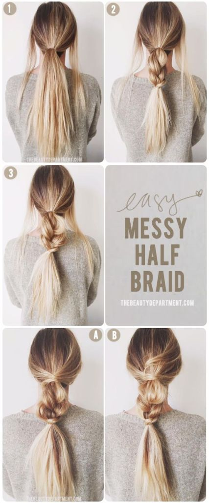 Pin Ups and Link Love: Messy Half Braid   knittedbliss.com