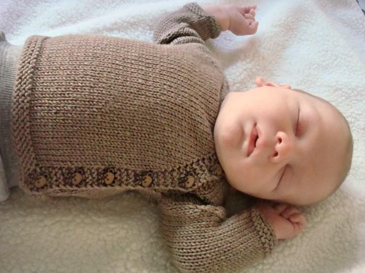 Bear Sweater and Moccasins  knittedbliss.com