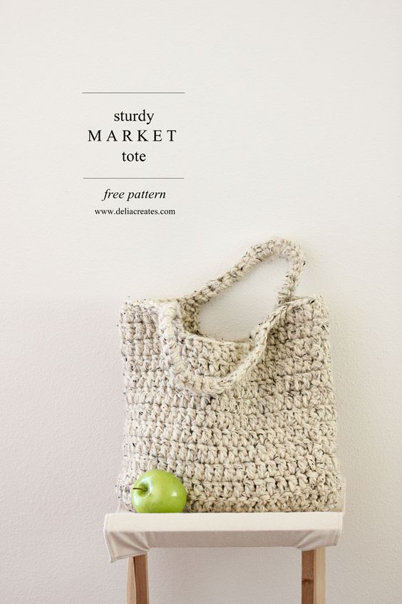 Pin Ups and Link Love: Crochet Market Tote| knittedbliss.com