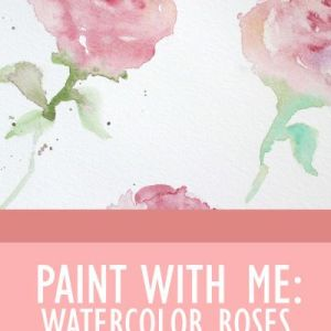 Pin Ups and Link Love: Watercolour Rose Tutorial| knittedbliss.com
