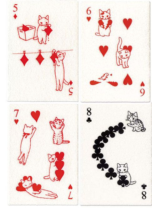 Pin Ups and Link Love: Japanese Cat Cards | knittedbliss.com