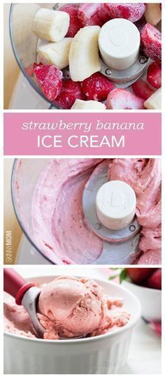 Pin Ups and Link Love: Strawberry Banana Ice Cream | knittedbliss.com