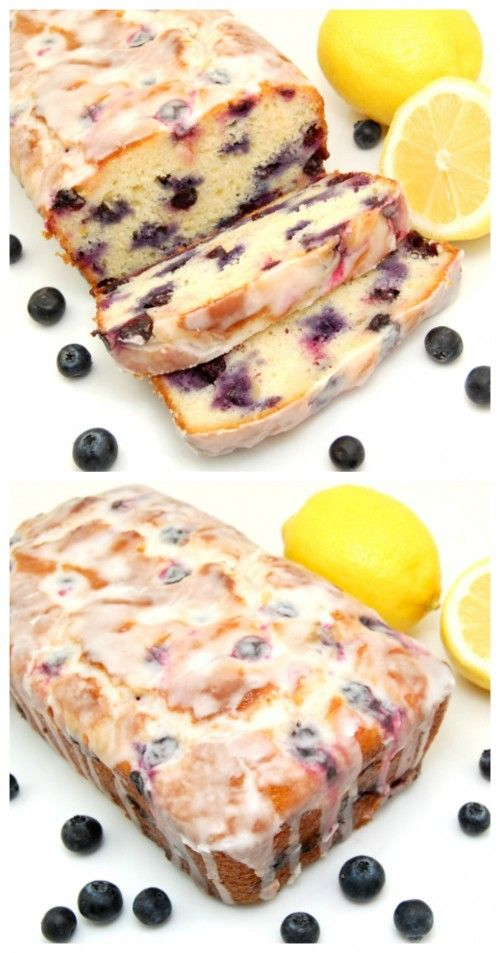 Pin Ups and Link Love: Blueberry and Lemon Loaf Cake| knittedbliss.com