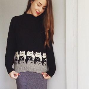 Modification Monday: Moggies Sweater | knittedbliss.com