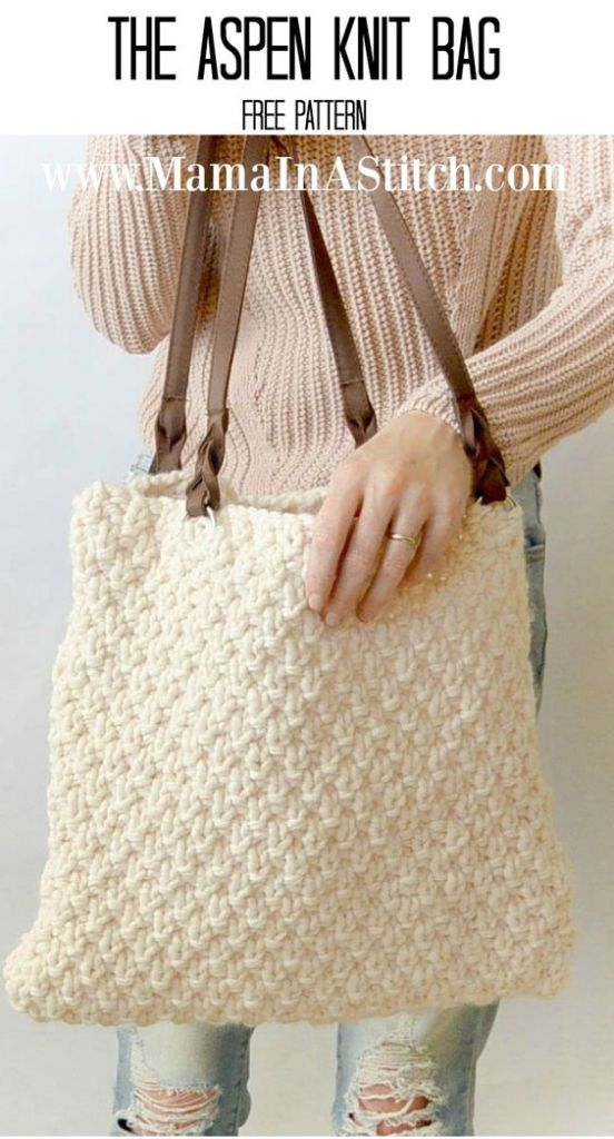 Pin Ups and Link Love: Knitted Bag| knittedbliss.com