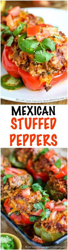 Pin Ups and Link Love: Mexican Stuffed Peppers | knittedbliss.com