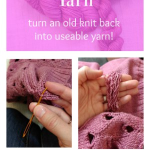 How to Reuse Yarn | knittedbliss.com