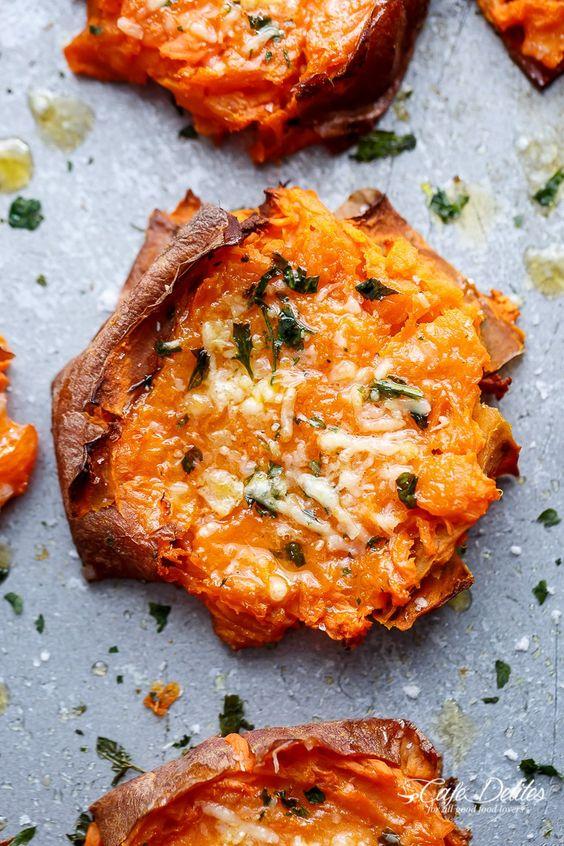 Pin Ups and Link Love: TSmashed Sweet Potatoes | knittedbliss.com