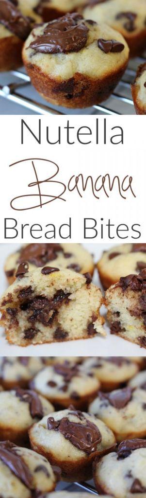 Pin Ups and Link Love: Nutella Banana Bread Bites | knittedbliss.com