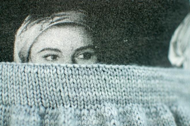 Edie Sedgwick peeking.
