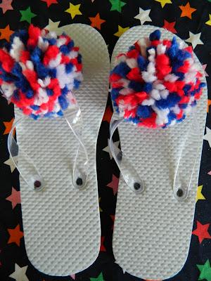 pompom flip-flops
