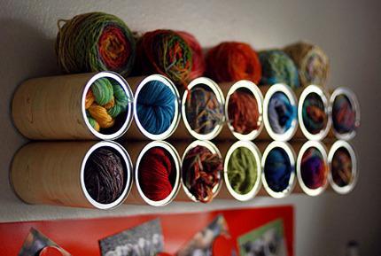 yarn storage coffee cans