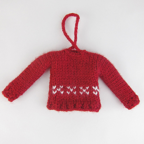 Free Knitting Patterns For Sweater Ornaments : Free Pattern: Tiny Sweater Christmas Ornament   Knitting