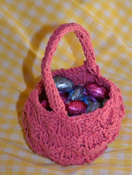 knit easter basket