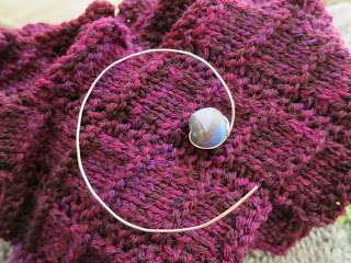 bead and wire shawl pin